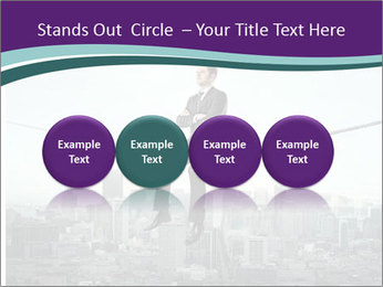 Businessman sitting on rope PowerPoint Templates - Slide 76