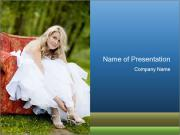 Beautiful bride PowerPoint Template