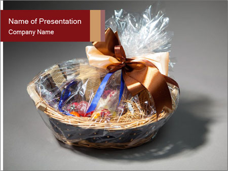 Gift basket PowerPoint Template