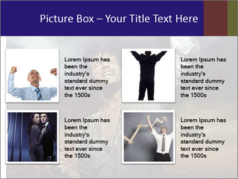 Triumphant man PowerPoint Templates - Slide 14