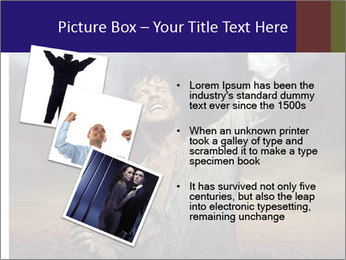 Triumphant man PowerPoint Templates - Slide 17