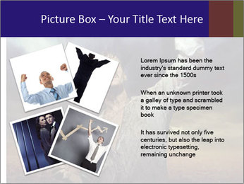 Triumphant man PowerPoint Templates - Slide 23