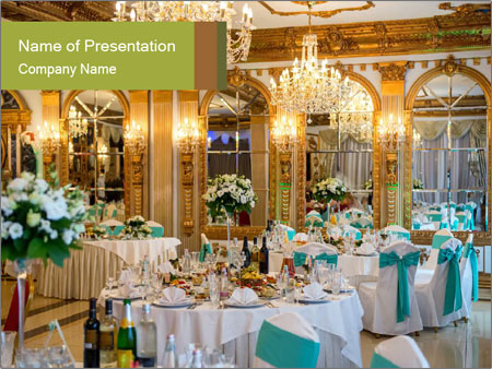Banquet tables PowerPoint Template
