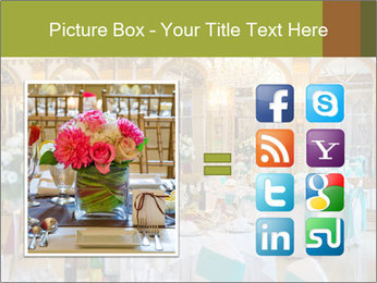 Banquet tables PowerPoint Template - Slide 21