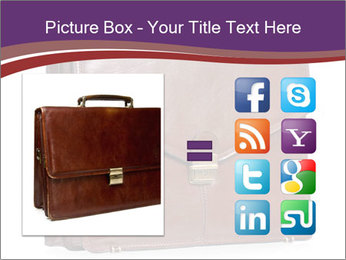 Brown leather briefcase PowerPoint Templates - Slide 21