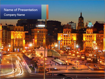 Heart of Kiev PowerPoint Template - Slide 1