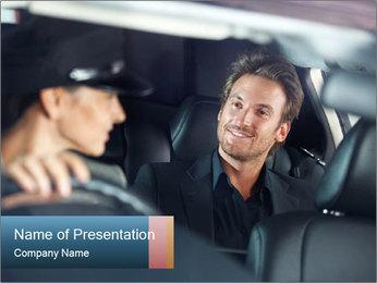 Man sitting in luxury car PowerPoint Templates - Slide 1