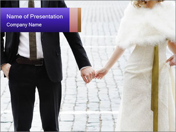 Bride and groom PowerPoint Templates - Slide 1