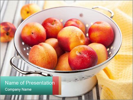 Fresh nectarines PowerPoint Templates