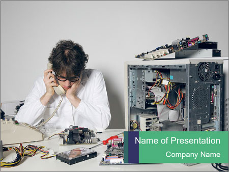 Computer technician PowerPoint Template