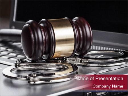 Handcuffs PowerPoint Template