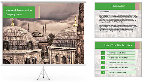 Famous Blue Mosque in Istanbul PowerPoint Template