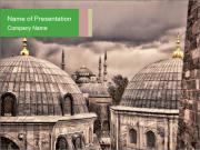 Famous Blue Mosque in Istanbul PowerPoint Templates