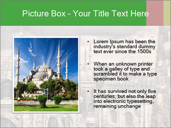 Famous Blue Mosque in Istanbul PowerPoint Templates - Slide 13