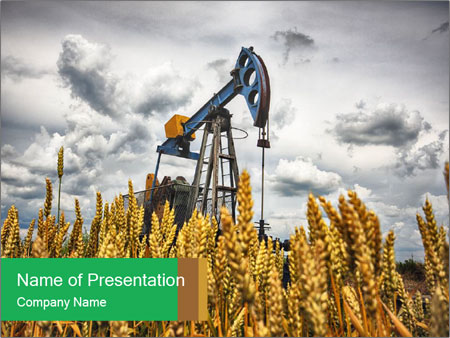 Oil pump PowerPoint Templates