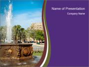 Fountain in center PowerPoint Templates