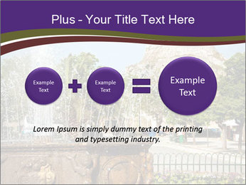 Fountain in center PowerPoint Template - Slide 75