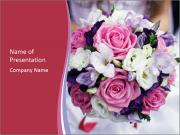 Wedding bouquet PowerPoint Template