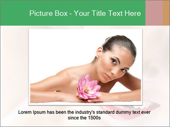 Young woman's half face laying PowerPoint Template - Slide 15