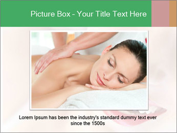 Young woman's half face laying PowerPoint Template - Slide 16