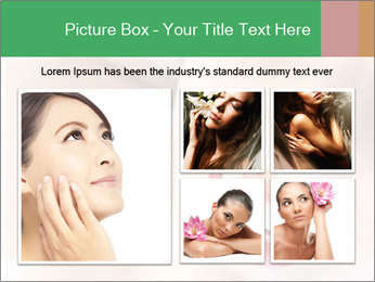 Young woman's half face laying PowerPoint Templates - Slide 19