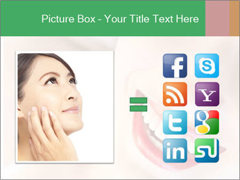 Young woman's half face laying PowerPoint Templates - Slide 21