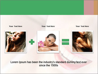 Young woman's half face laying PowerPoint Template - Slide 22