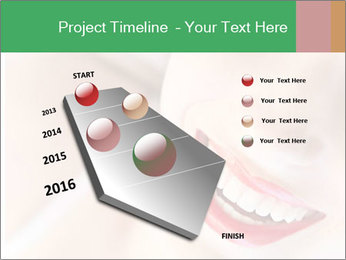 Young woman's half face laying PowerPoint Template - Slide 26