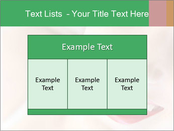 Young woman's half face laying PowerPoint Templates - Slide 59