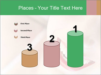 Young woman's half face laying PowerPoint Templates - Slide 65
