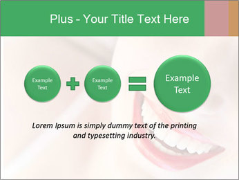 Young woman's half face laying PowerPoint Template - Slide 75