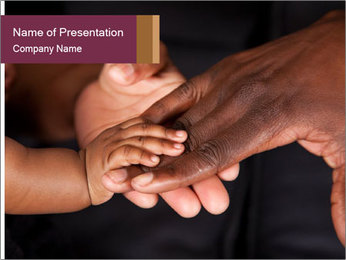 Family's hands PowerPoint Template