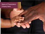Family's hands PowerPoint Templates