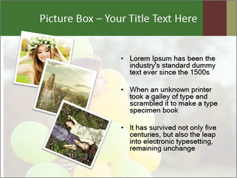 Young beautiful girl PowerPoint Templates - Slide 17