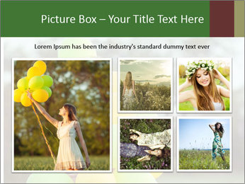 Young beautiful girl PowerPoint Templates - Slide 19