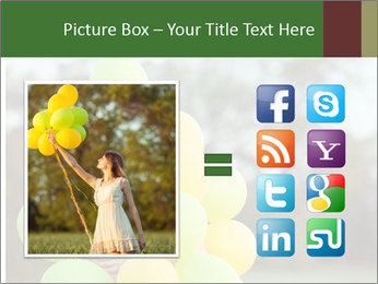 Young beautiful girl PowerPoint Templates - Slide 21