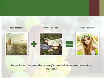 Young beautiful girl PowerPoint Templates - Slide 22