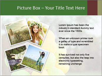 Young beautiful girl PowerPoint Templates - Slide 23