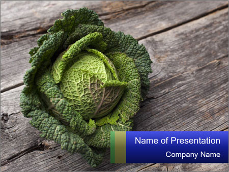 Organic kale PowerPoint Template