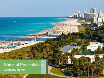 South Beach PowerPoint Templates - Slide 1