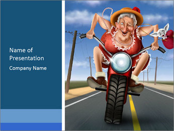 Funny mad granny PowerPoint Template - Slide 1