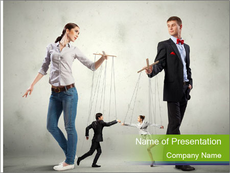 Marionette puppets PowerPoint Template