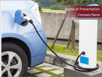 Electric car PowerPoint Template - Slide 1