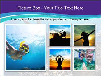 Freediver gliding underwater PowerPoint Template - Slide 19