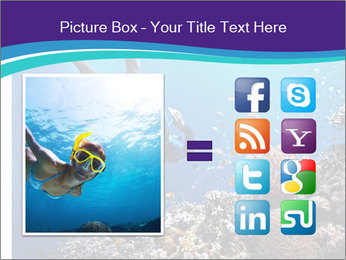 Freediver gliding underwater PowerPoint Template - Slide 21