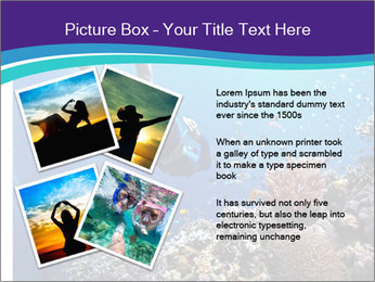Freediver gliding underwater PowerPoint Template - Slide 23