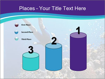 Freediver gliding underwater PowerPoint Template - Slide 65