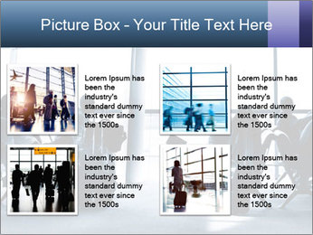 Business people traveling on airport PowerPoint Template - Slide 14