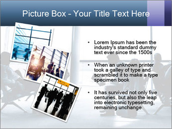 Business people traveling on airport PowerPoint Template - Slide 17