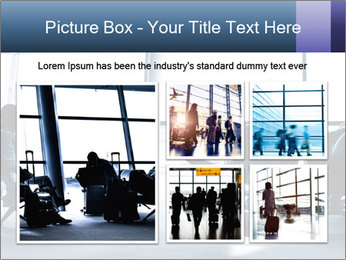 Business people traveling on airport PowerPoint Template - Slide 19